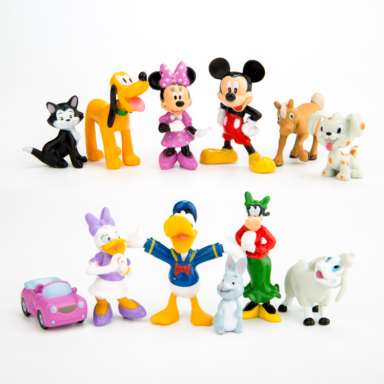 New 12pcs/set Mini Mickey Mouse Clubhouse Mickey Minnie Donald Duck Pluto Dog Cartoon Action Figure Toys GIft For Kids(China (Mainland))