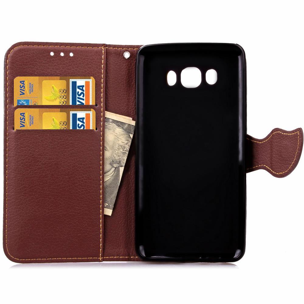 Case For Samsung J7 2016 Cover Soft Silicone & Flip Leather Case For Samsung Galaxy J7 2016 J710 Fundas Card Slot Phone Shell