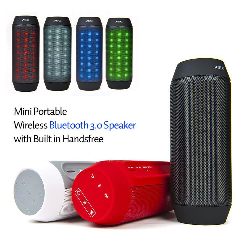 Mini Portable LED Bluetooth Speaker BT 3.0 Support TF Card FM Radio Handsfree BQ615 outdoor bicycle bluetooth speaker - BOAS store