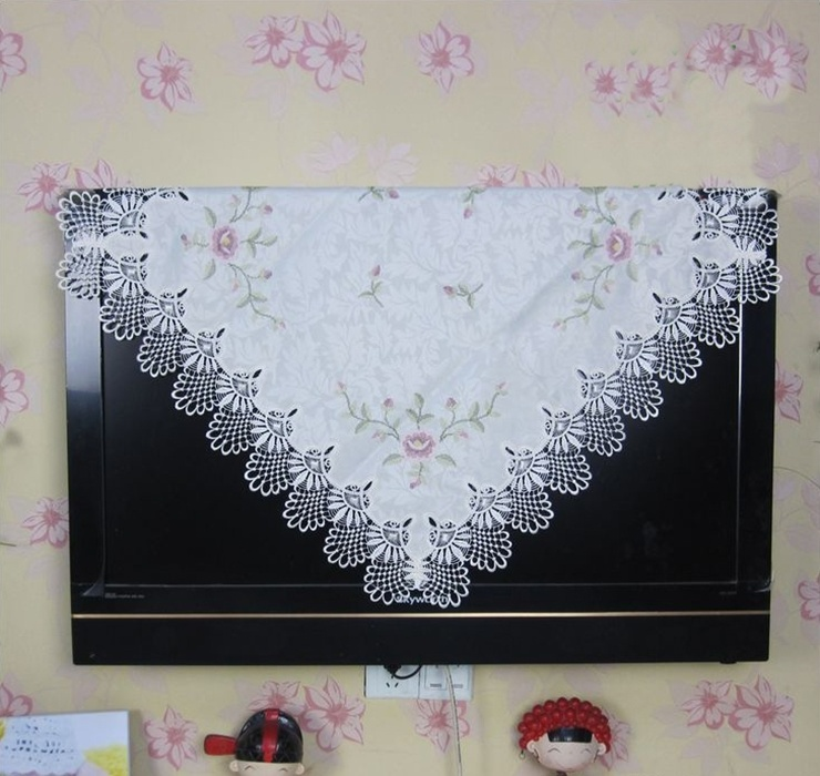 Hot Sale 85*85cm Elegant Polyester Cross-stitch Embroidery Tablecloth Lace Table Topper Cloth Towel(China (Mainland))
