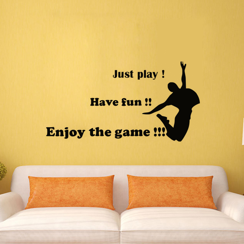EHome Just Play Have Fun Enjoy The Game Wall Stickers Dance DIY Wall  Decoration Removable Vinyl Decals For Bedroom. Fun Games Bedroom Promotion Shop for Promotional Fun Games Bedroom