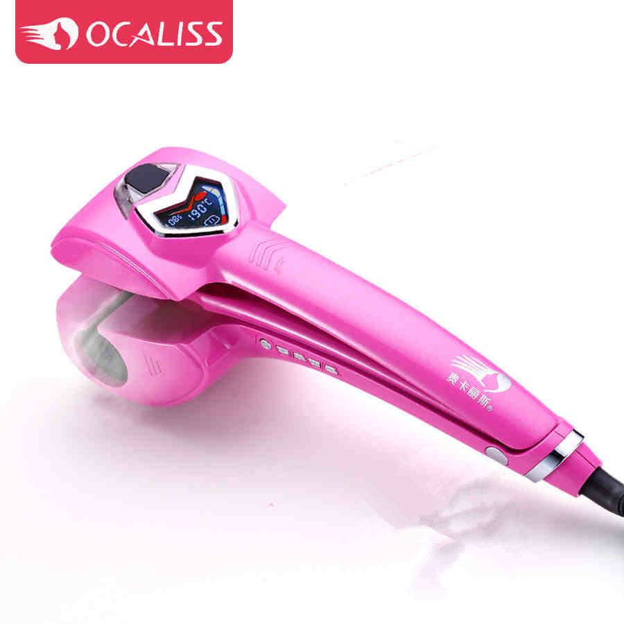 Ocaliss LED Screen Hair Curler Styler Heating Hair Styling Tools Automatic Hair Curl Roller Curling Wand(China (Mainland))