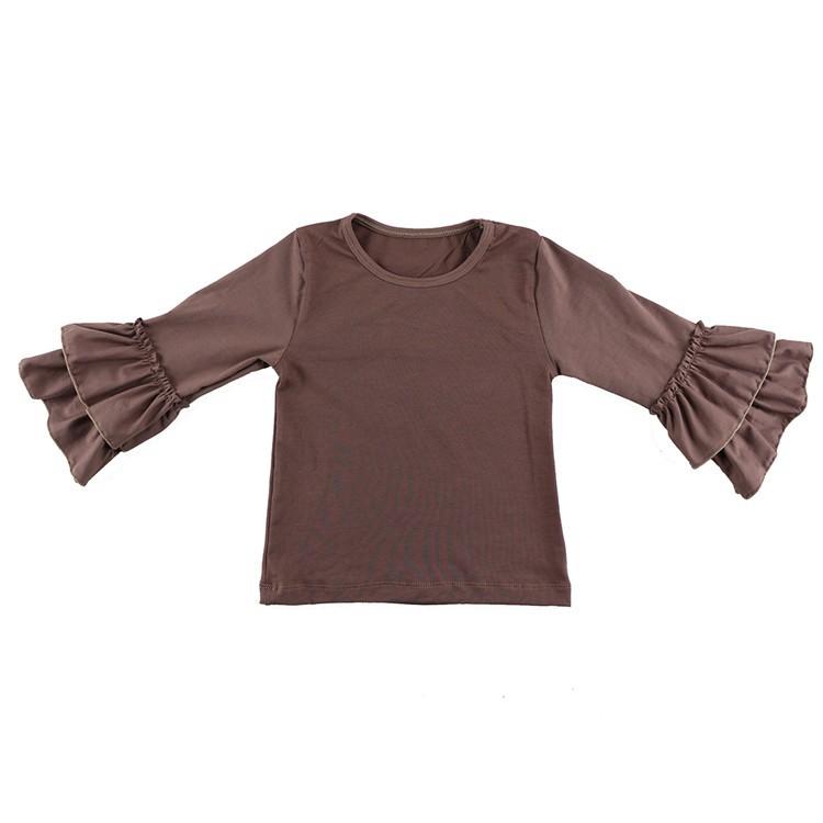 2016 New Real Minecraft Minion Wennikids Solid Cotton Sleeve Ruffle Top,girl T-shirt Children T Shirts Kid Tops Free Shipping  HTB1E.5NHVXXXXbQXXXXq6xXFXXXv