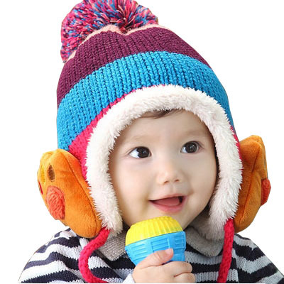 New winter plus thick velvet dome innovative design fashion windproof warm baby beanie hat All for kids clothes and accessories(China (Mainland))