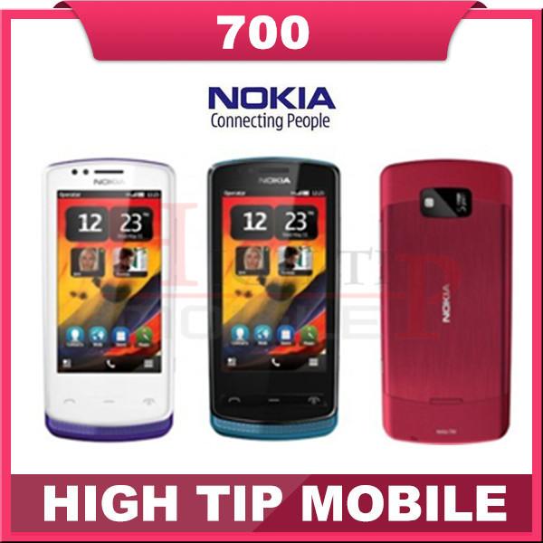 Nokia 700 Original 700 unlocked Refurbished mobile phone Bluetooth WiFi 3.2 inches 5 MP freeship one year warranty(China (Mainland))