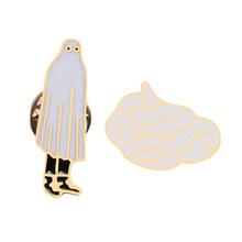 2-6 pz/set Animali Del Fumetto Spilla Labbra Donne Degli Uomini Tazza di Libro Delle Donne Fonografo Dello Smalto Spilli Giubbotti jeans Risvolto Spille Distintivo gioielli per bambini(China)
