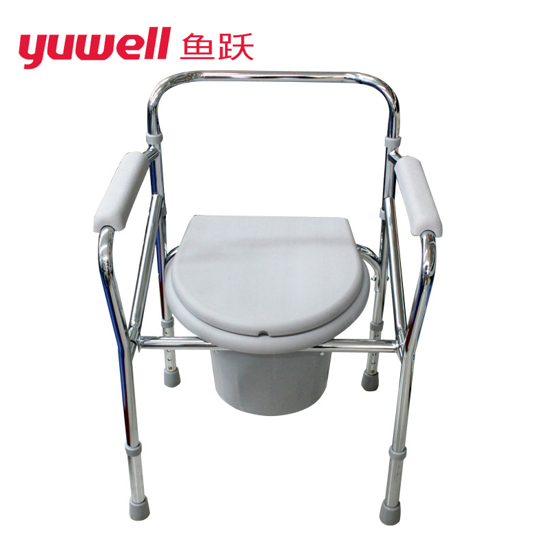 Diving H022B Mobile Commode Chair Potty Chair Toilet Seat Elderly Bath Chair
