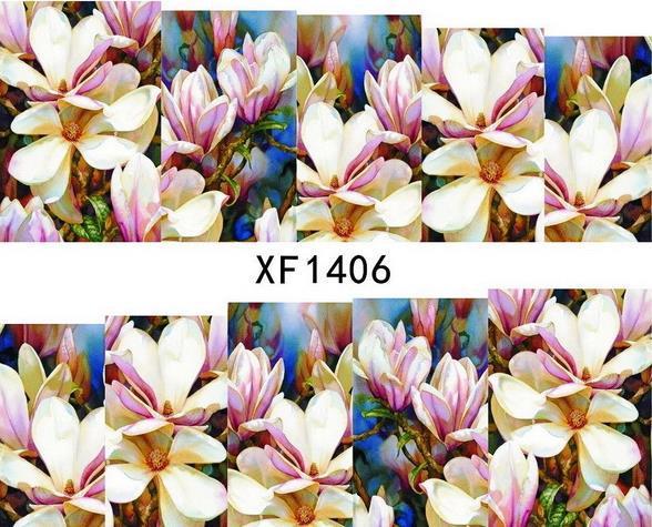 (Two or more cheap 10% again) 30 sheets/lot XF1406 Japanese Watermark Nail Art Fashion 3D DIY Nail Sticker,Necessary Nail Tools(China (Mainland))