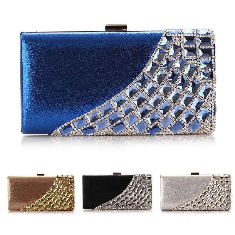Korea Style Evening Bags, BlingBling Crystal Diamond Day Clutch Bags