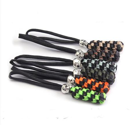 Umbrella rope knife fall skull pendant flashlight keychain ring rope fall Shengkou DIY umbrella umbrella rope tail falling <br><br>Aliexpress