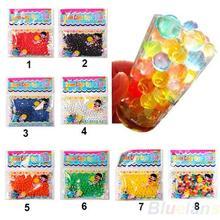 10bag/lot Pearl shaped Crystal Soil Water Beads Mud Grow Magic Jelly balls wedding Home Decor 02J2 3WUG(China (Mainland))