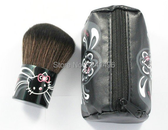 hello kitty blush brush makeup brushes,fashion Leather bag with logo via DHL fast free shipping(China (Mainland))