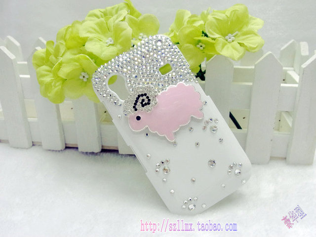 Gt-si9300 s5830 cell phone case rhinestone lovers protective case