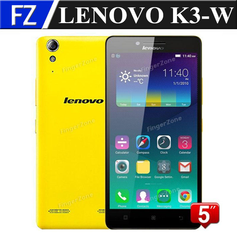 "Original white LENOVO Lemon K3 K30-W 4G FDD LTE 5.0"" IPS HD MSM8916 Quad Core Android 5.0 8MP 1GB RAM 16GB dual sim smartphone(China (Mainland))"
