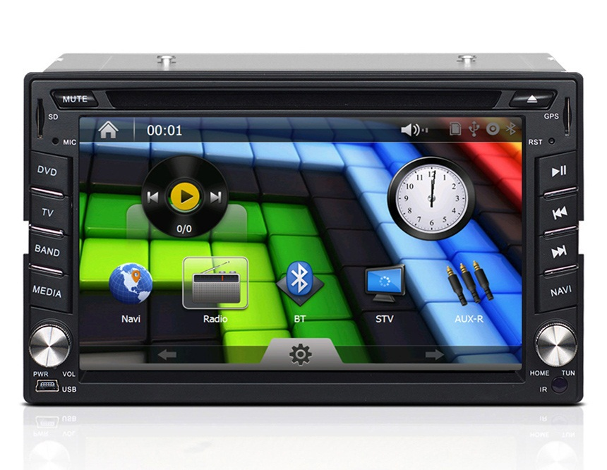 Автомобильный DVD плеер J-2612MX DVD GPS LCD USB SD Bluetooth AM /FM 6.2 2 Din DVD