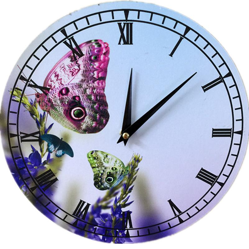 2015 hot sale wall clock 3d clocks reloj de pared horloge murale watliving room quartz watch Bamboo & Wooden europe free shippin(China (Mainland))