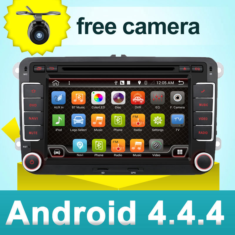 car dvd vw android 4.4 double din gps navigation Wifi+Bluetooth+Radio+dual core CPU DDR3 Capacitive Touch Screen Car PC Stereo(China (Mainland))