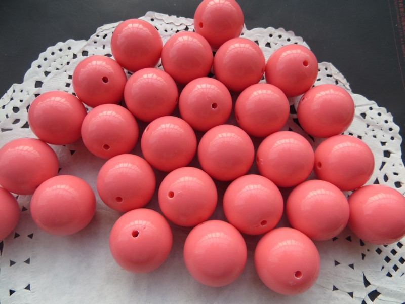 Wholesales Watermelon Red Color Chunky 20MM 105pcs Acrylic Solid Bubble Gumball Beads for Kids Necklace Jewelry Making(China (Mainland))