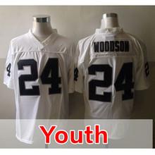 Youth 52 Khalil Mack 4 Derek Carr Kid's 89 Amari Cooper 34 Bo Jackson 24 Charles Woods Embroidery Black Elite Free Shipping(China (Mainland))