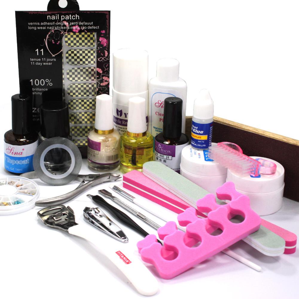 Здесь можно купить  Pro Nail Art Foils Sticker UV Gel Top Coat Oil Kits Pedicure Tools Acrylic Sets  Красота и здоровье