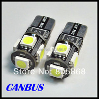 Wholesale T10 5050 Led Canbus Car Smd Light + W5w 194 5smd 5 Bulb No Obc Error 10pcs/lot