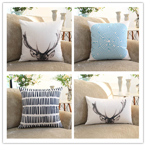 Wholesale Scandinavian style Home Pillow Decoration modern geometric Chair Pillow soft stylish Pillow Home Decor free shipping