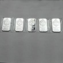 5 pcs/lot free shipping Non- Magnetic lion bar design Scottsdale Silver Plated 1oz bullion bar(China (Mainland))