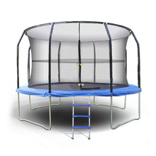 "New 14"" Outdoor Trampoline Enclosure Netting 4 Arch 8 Poles durable Strong Exercise Protector Trampoline Safety Net us6(China (Mainland))"