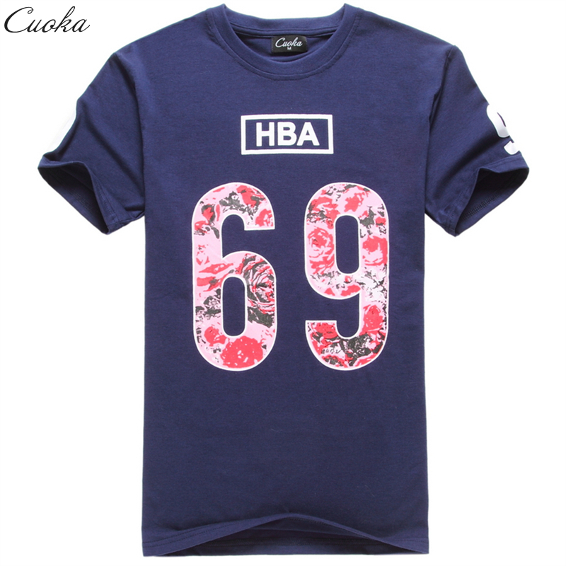 Cuoka Brand Hot sale hip hop Tops Tees Short Sleeve 69 HBA Pyrex t shirt mens swag rock T-shirt fashion skate Lovers clothing(China (Mainland))