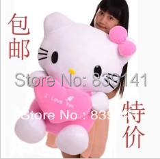 2014 Limited New Arrival Pp > 3 Years Old Soft Mini Genius 38cm Hello Kitty Doll Toys Large Lovely Kt Catwoman Birthday Gifts(China (Mainland))