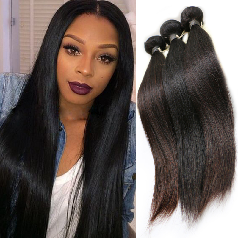 8A Unprocessed Bliss Hair Virgin Peruvian A Hair Straight Natural # Color 100% Queen Hair Weave(China (Mainland))