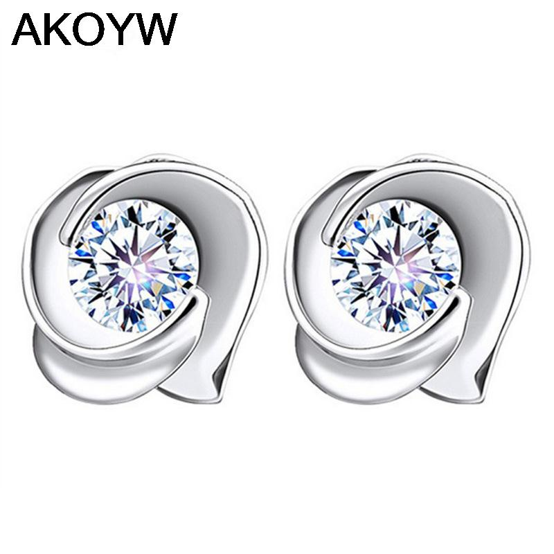 Silver plated rose earrings wild retro crystal jewelry lady lovely high quality fashion jewelry manufacturers, wholesale(China (Mainland))