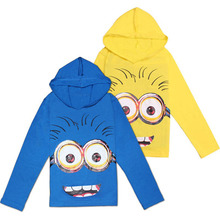 2016 New Cotton boys t shirt despicable me 2 minion short t-shirts kids baby children t shirts, child long sleeve clothes(China (Mainland))