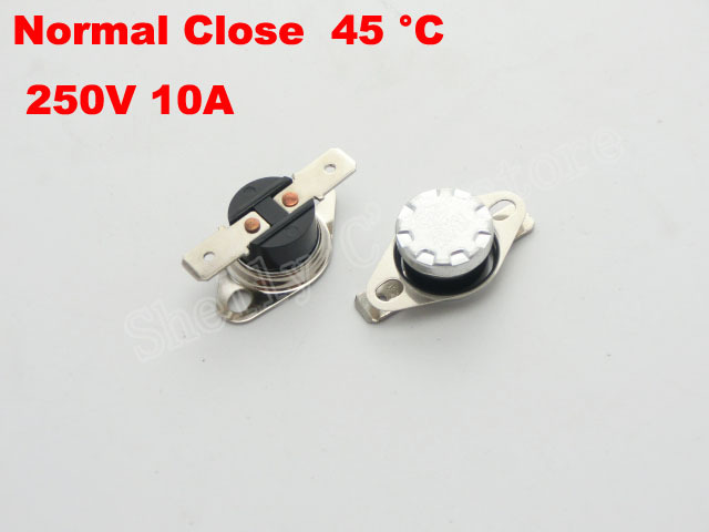 Normally Closed 45C Thermostat Temperatur Controlled Switches<br><br>Aliexpress