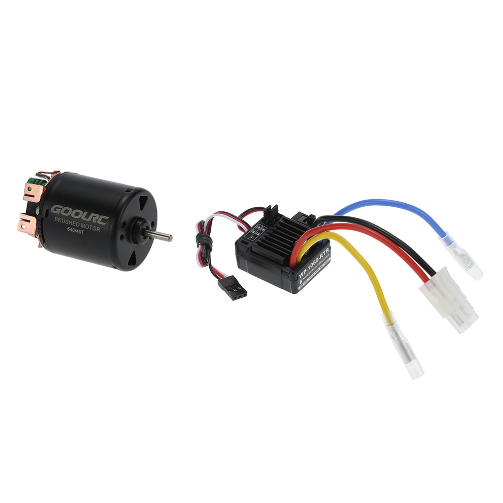 GoolRC 540 45T 4 Poles Brushed Motor and 60A Waterproof Brushed ESC with 5V/2A BEC for 1/10 RC Car Replacement Parts(China (Mainland))