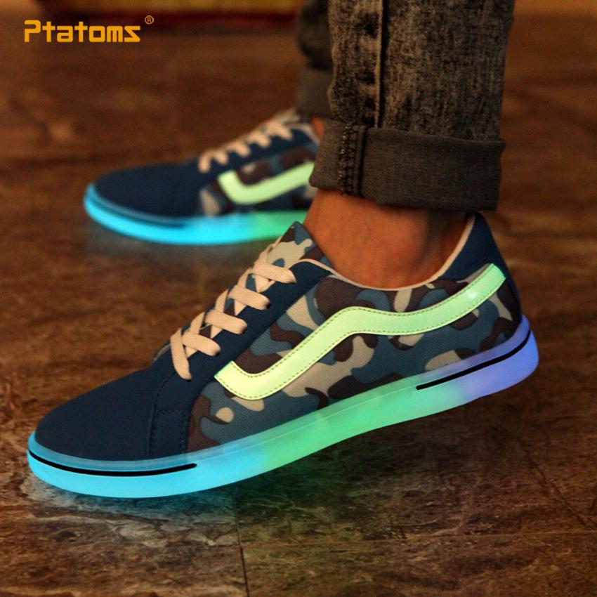 sapatos respir vel t nis casuais luz led fluorescente sapatos sapatos de dan a de rua do homem. Black Bedroom Furniture Sets. Home Design Ideas