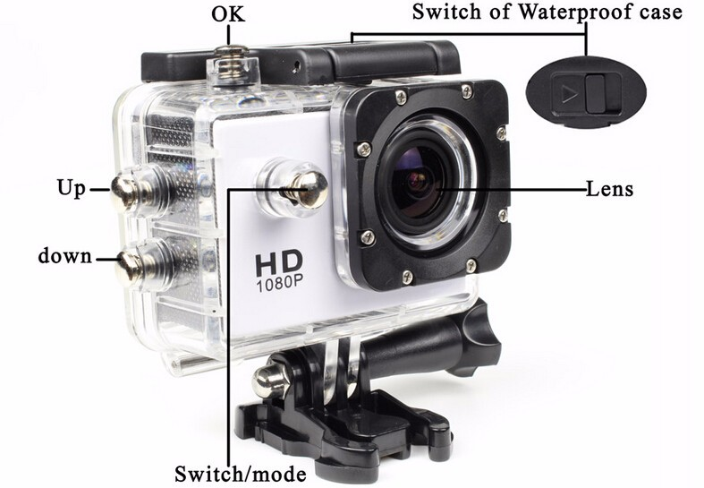Mini Videocamaras Gopro  Estilo Full HD DVR SJ4000 Deporte Del Video Camara Go