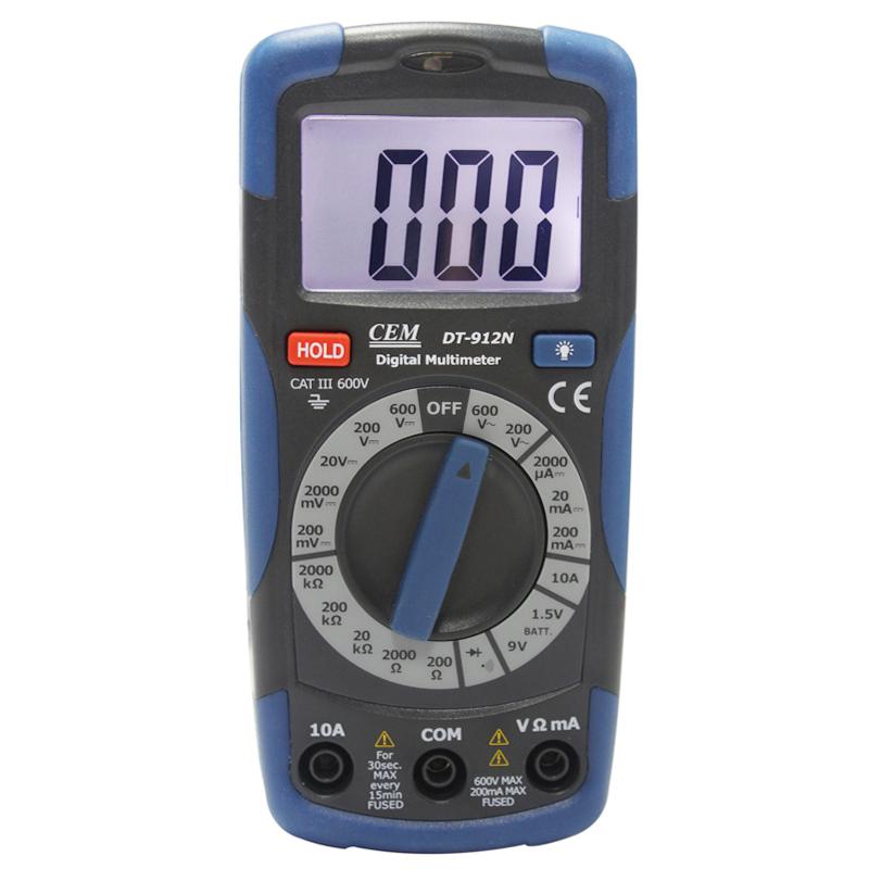 CEM digital multimeter tester digital electrical Current voltage resistance tester DT-912N(China (Mainland))