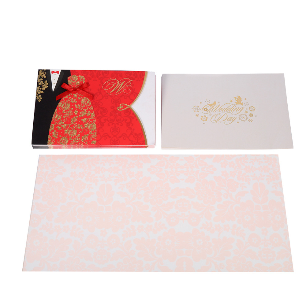 Online buy wholesale blank card packs from china blank for Blank chinese wedding invitations