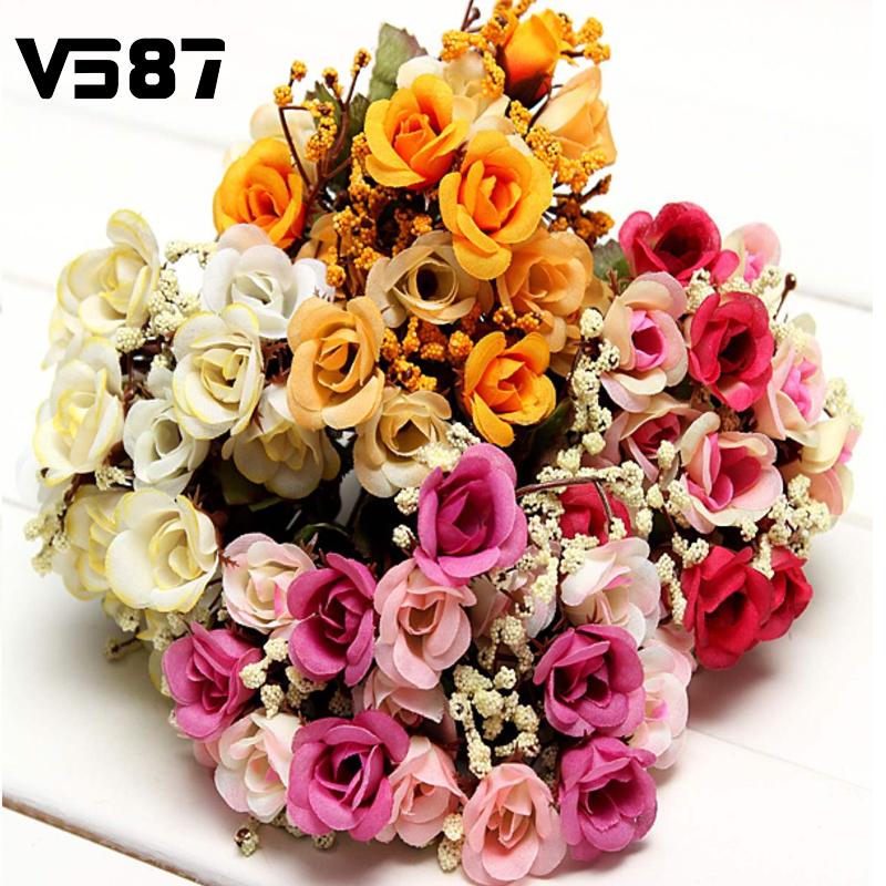 Silk Wedding Bouquets Online Get Cheap Bridal Aliexpress