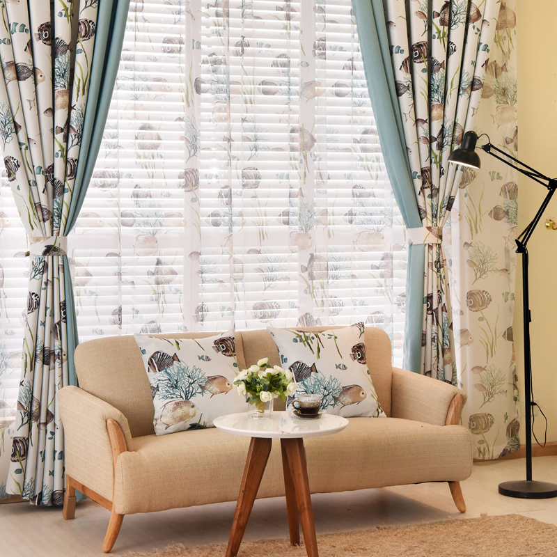 Buy curtains for room boys curtains child blue bedroom tulle short curtains - Tende camera ragazzo ...