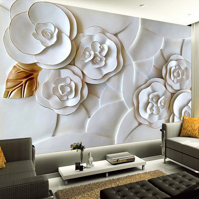 Custom 3d mural wallpaper 3d embossed wallpaper modern - Papel decorativo para paredes ...