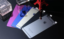 Premium Plating Colorful Tempered Glass For iphone 5 5S 5C Screen Protector Film Cover 20pcs(10pcs Front+10pcs Back )