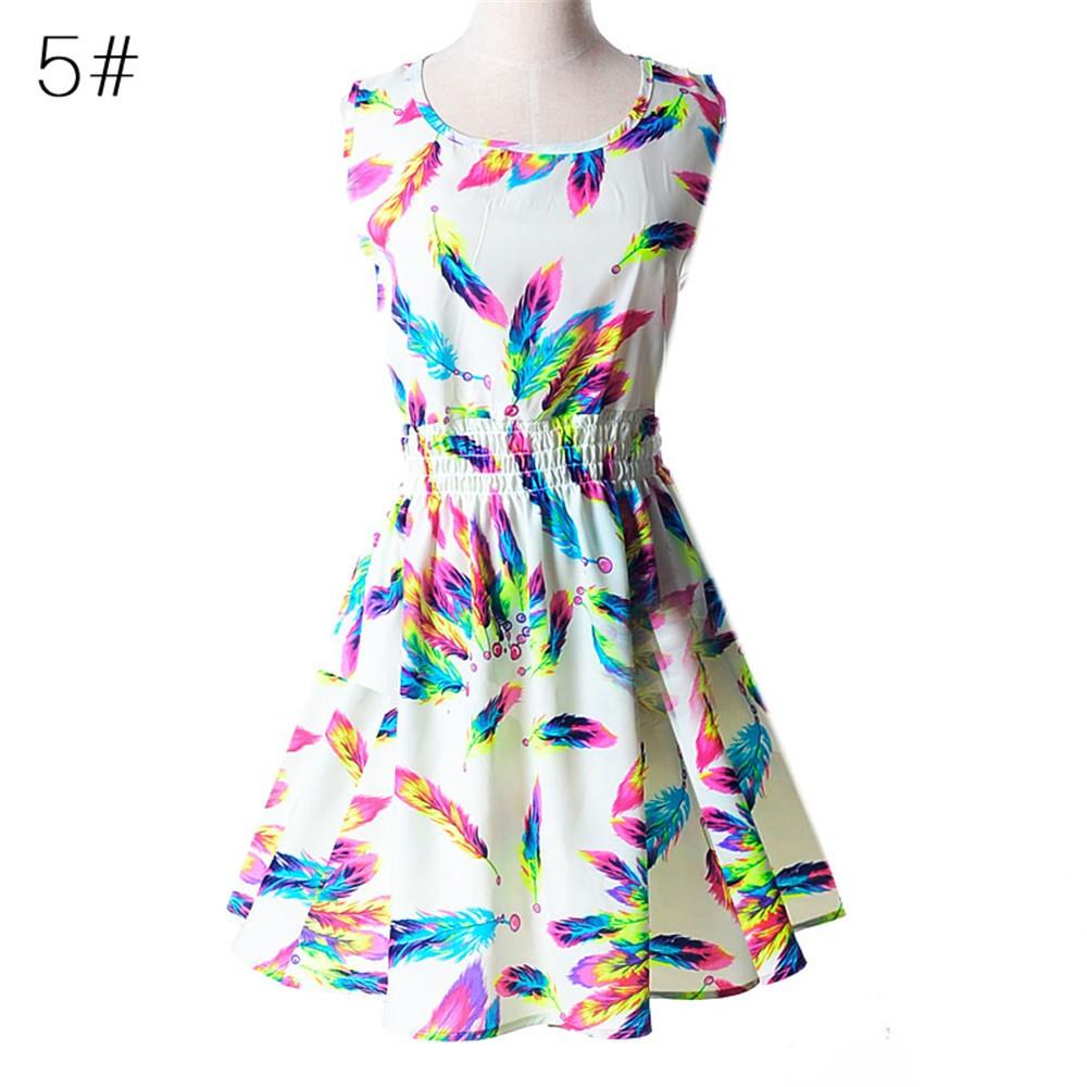 Fashion Tunic Women Dress 2016 Plus Size XXL O-neck WOMEN DRESS Summer Style Floral Print Casual Dresses Women Vestidos Woman (31)