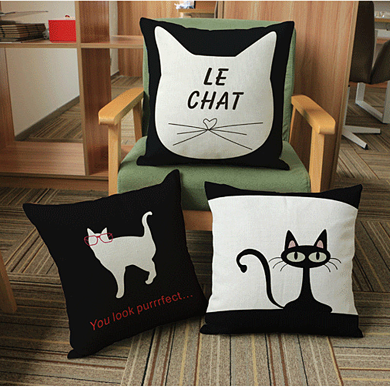 Cartoon Cat Cushion Ikea Decorative Pillows For Home Sofa Car Seat ,Cusion emoji cojines(China (Mainland))