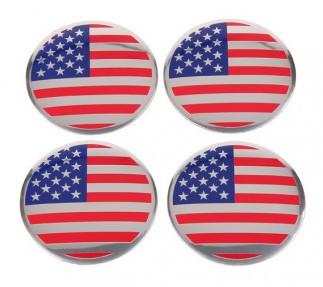 USA American Flag Emblem 4PCS 56.5mm Wheel Center Hub Caps Sticker Badge Universal Fits All Cars Car Styling Parts(China (Mainland))