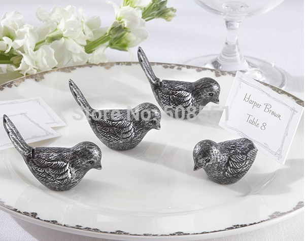 2014 new design White Paper Antiqued Bird Wedding Party Place/Table card/cards holder With Free Shpping(China (Mainland))