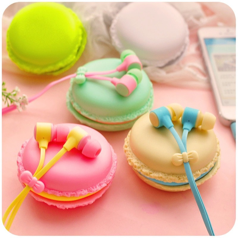 2015 bests macaroon Earphones 3.5mm in-ear earphone with macaroon case&Mic for Xiaomi Samsung Sony Apple iphone phone(China (Mainland))