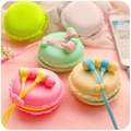 2015 bests macaroon Earphones 3 5mm in ear earphone with macaroon case Mic for Xiaomi Samsung