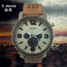 Nueva s.wav es Reloj de pulsera de cuarzo fecha DZ hombre de cuero fossiler moda Casual ejército inoxidable mesa Masculino Relogio del Reloj